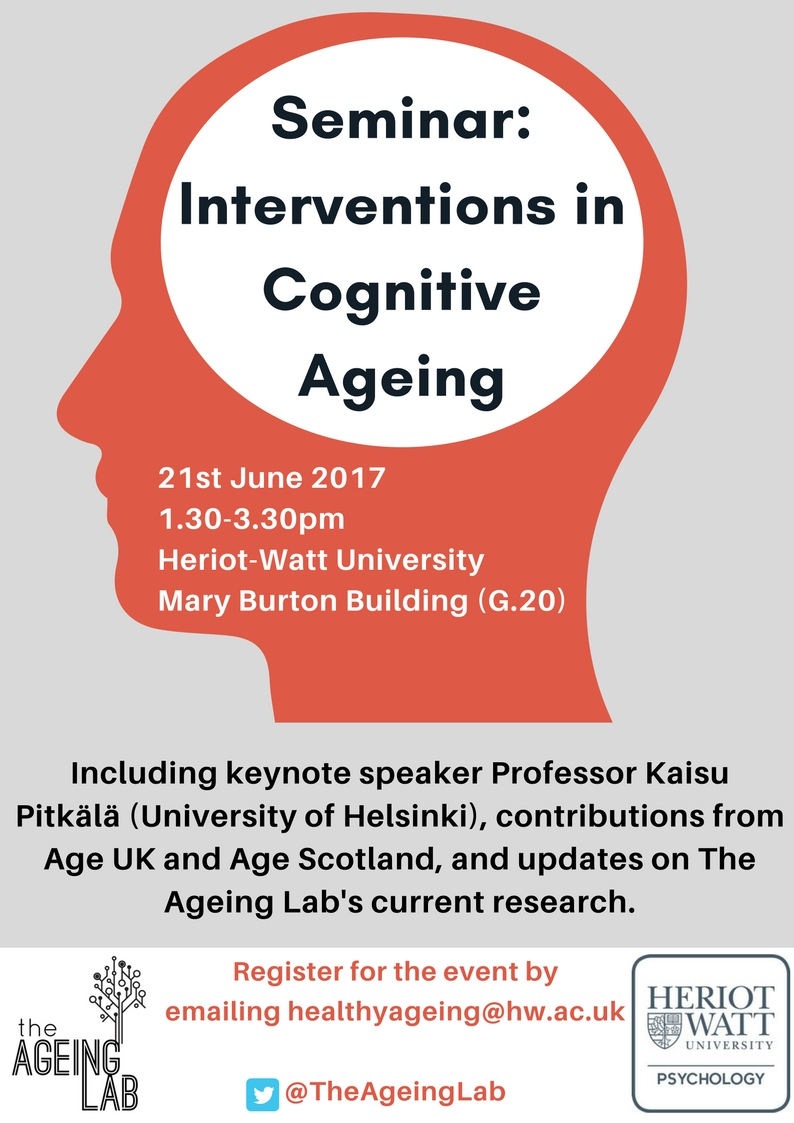 Interventions in Cognitive Ageing 2017 seminar Poster