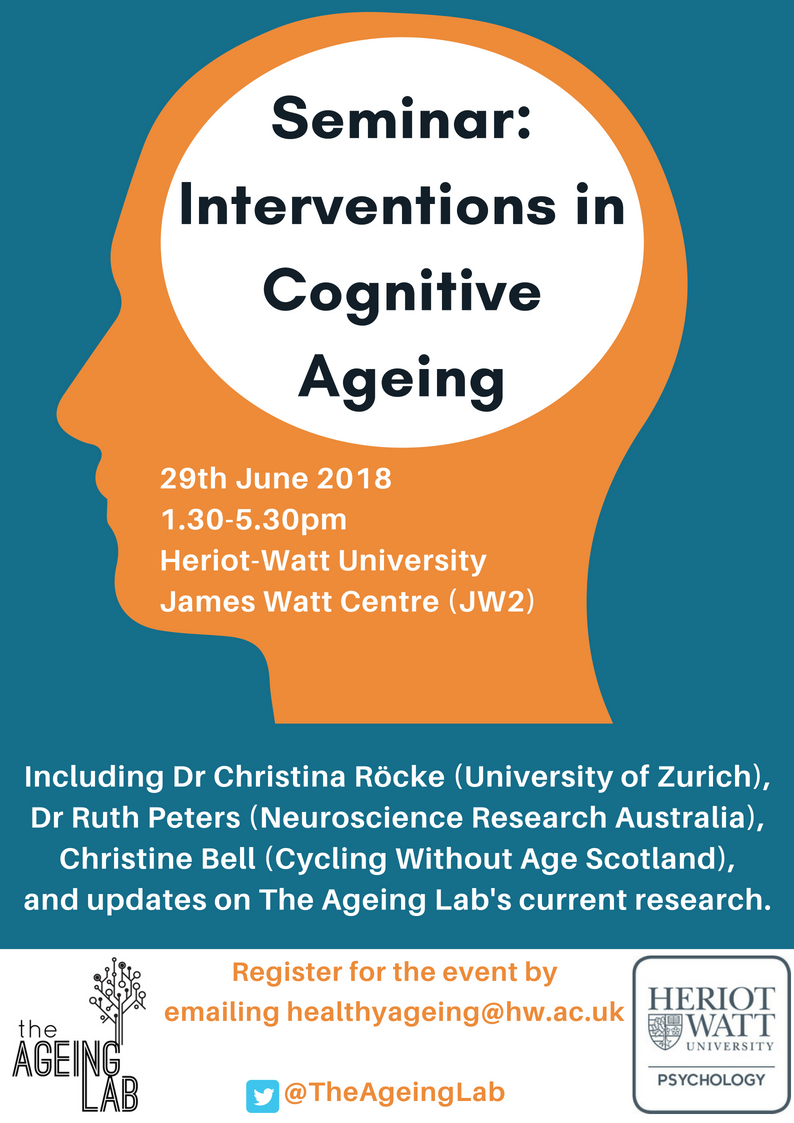 Interventions in Cognitive Ageing 2018 seminar Poster